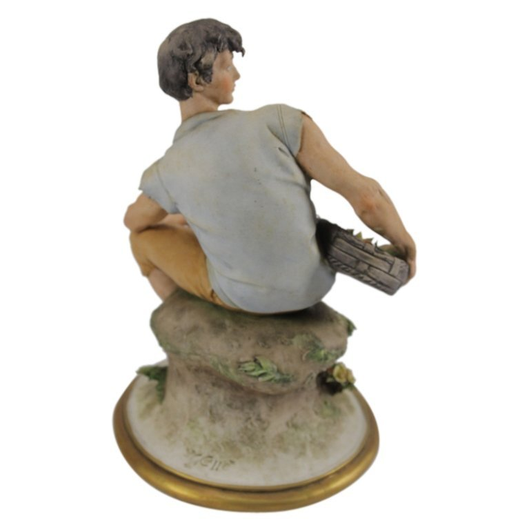Giuseppe Cappe Peasant Man Figurine - 2
