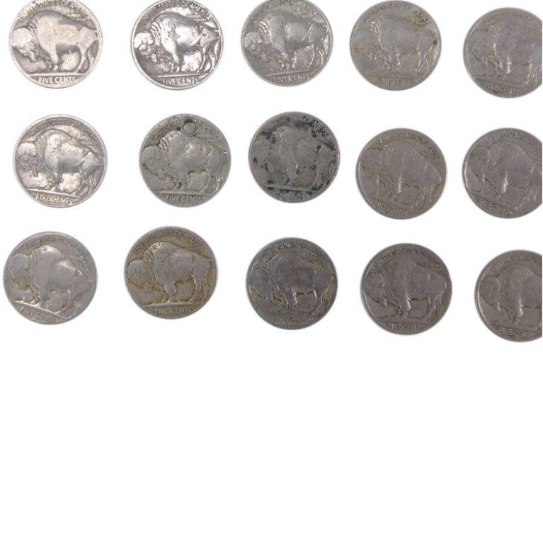Lot of Buffalo Nickels - 2