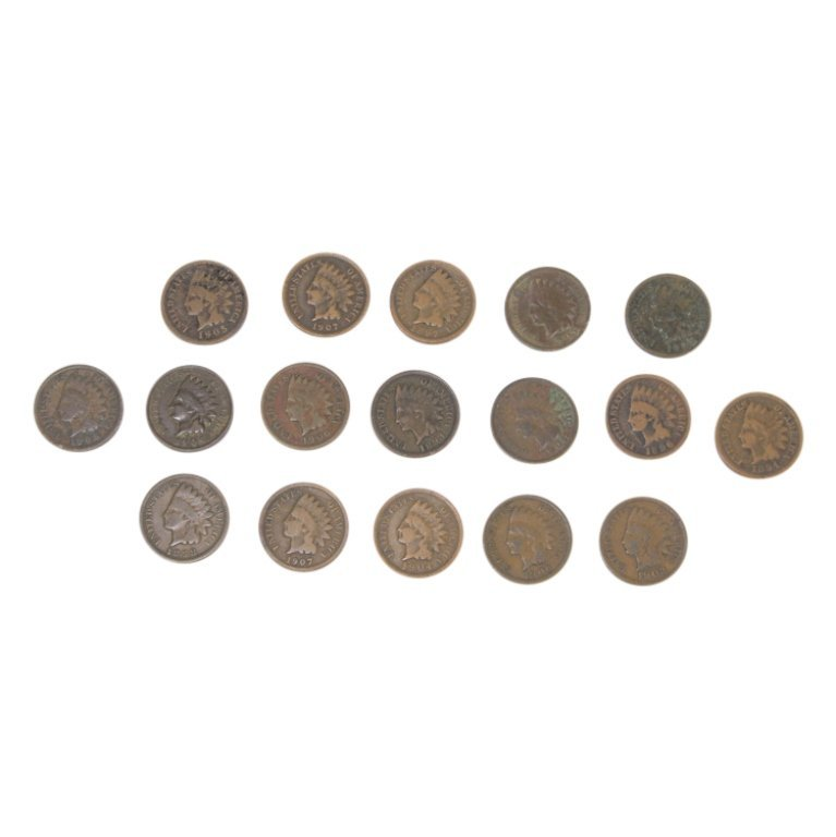 Lot of Indian Head Pennies - 2