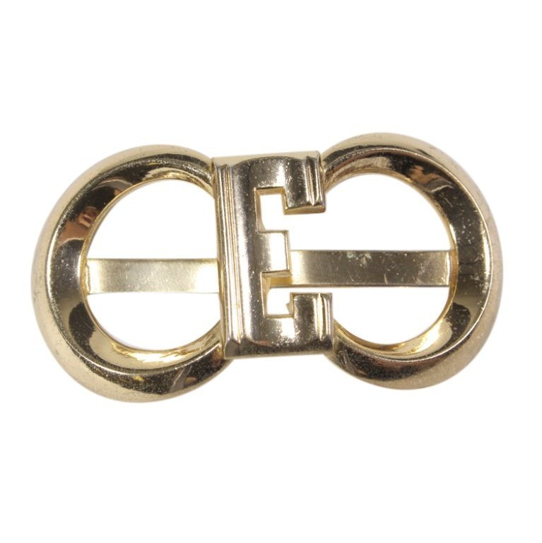 Vintage Initial E Coro Marked Scarf Slide