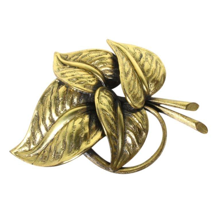 Vintage Tortolani Leaf Brooch
