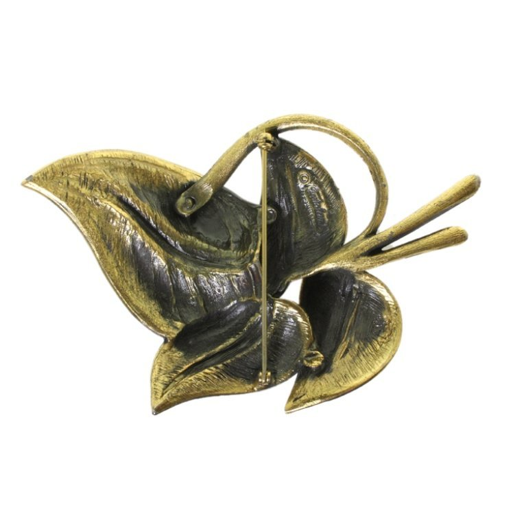 Vintage Tortolani Leaf Brooch - 2