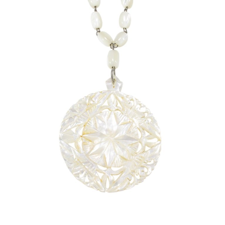 Mother of Pearl Necklace and Pendant - 2