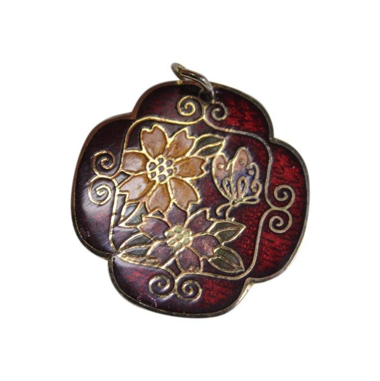 Cloisonne Floral Pendant