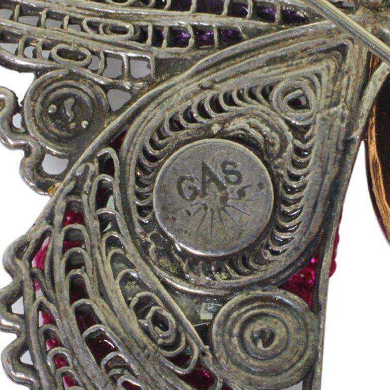 GAS Butterfly Pin Brooch - 4