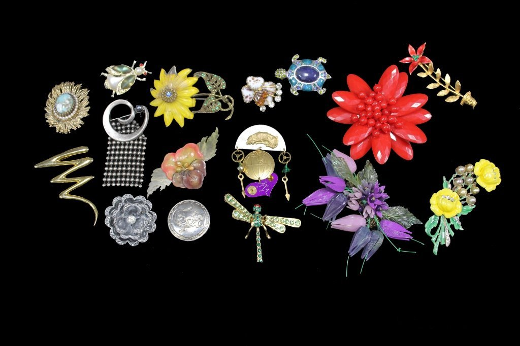 Estate Group of Pin Brooches