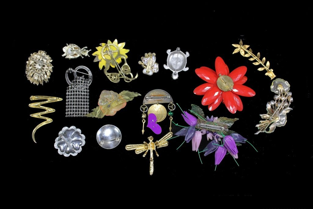 Estate Group of Pin Brooches - 2