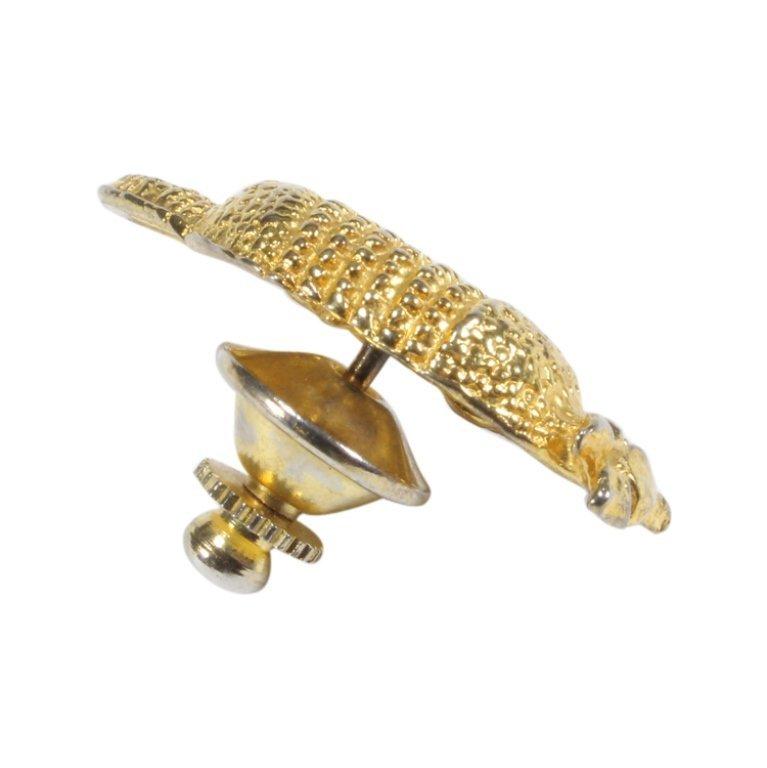 Gold Tone Armadillo Lapel Pin Tie Tack - 2