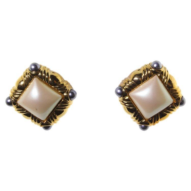 Vintage Ginnie Johansen Design 2 Pair Earrings