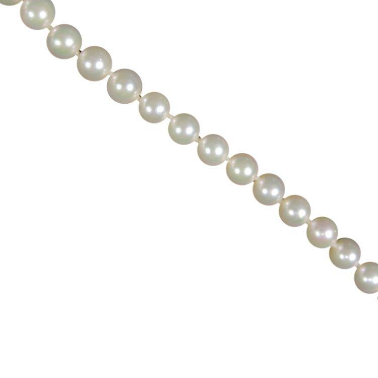 14k & Pearl Strand Necklace Mikimoto Blue Lagoon - 2
