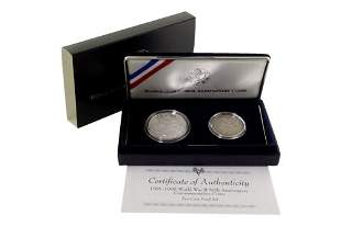 WWII 50th Anniversary Commemorative Proof Coins
