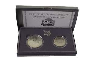 Mount Rushmore Anniversary Two Coin Set