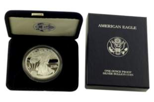 2001 W Silver American Eagle One Ounce Proof Coin