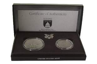 1989 US Congressional Two Coin Set Uncirculated