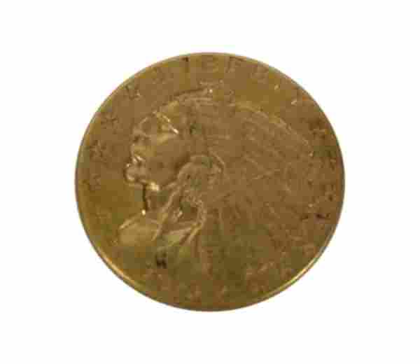 1912 US Indian Head Gold Coin $2 1/2 Dollar