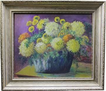 Jessie Agnes Palmer Oil on Board Floral Still Life