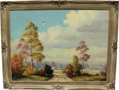E. Sutton Oil on Canvas
