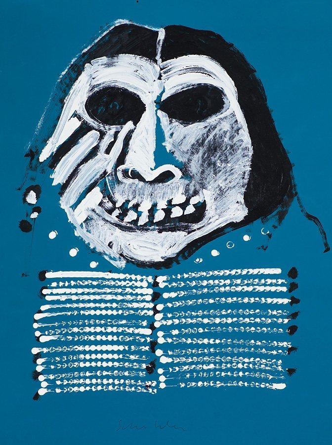 Fritz Scholder  'Mean Indian #5'