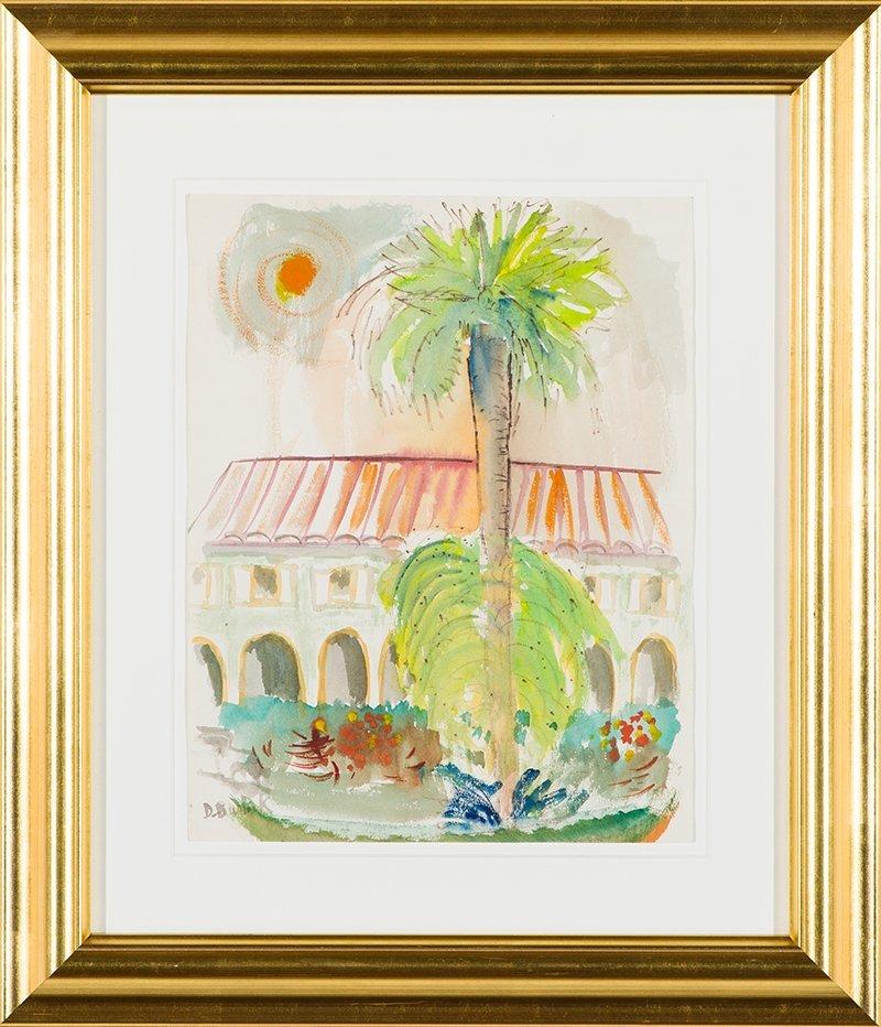 David Burliuk  'Tropical Landscape' - 2