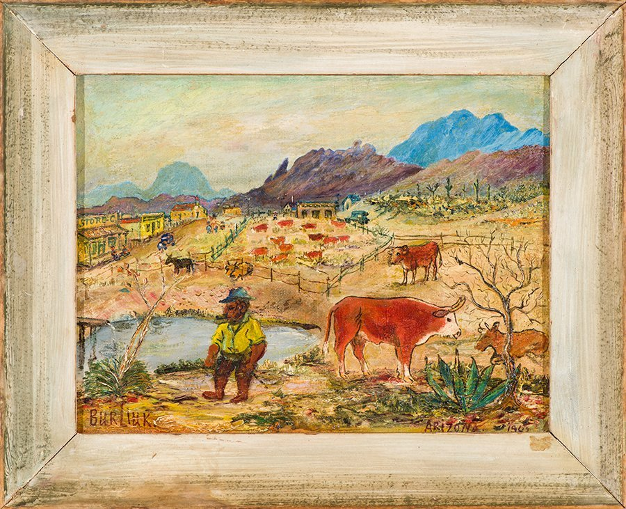 David Burliuk  'Corral in Arizona' - 2