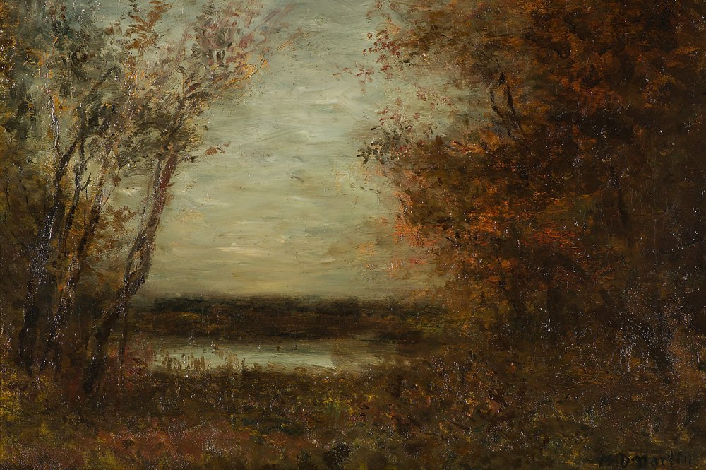 Homer D. Martin  'A Clearing in Thickly Wooded Forest'