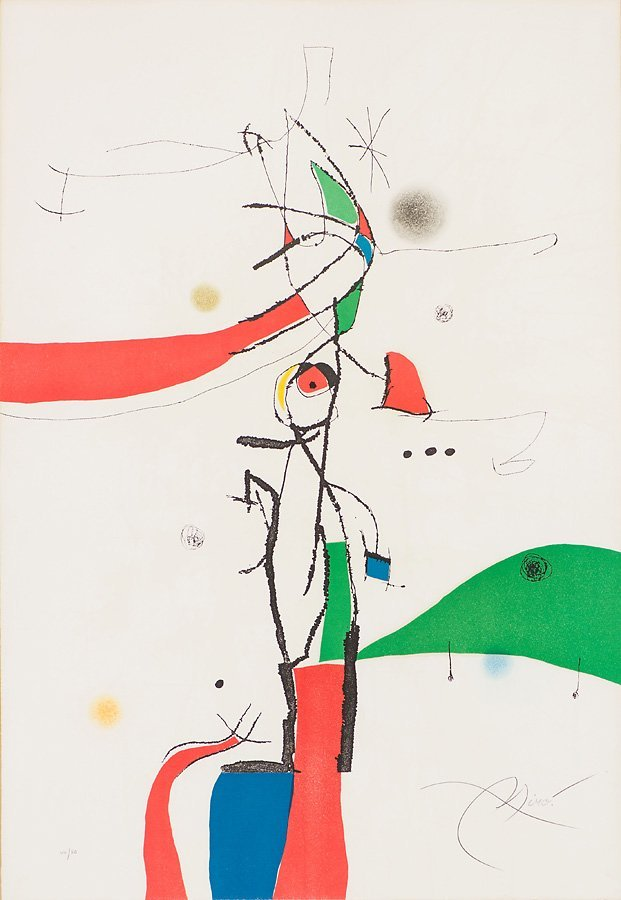Joan Miró   'Demi Mondaine À Sa Fetêtre'