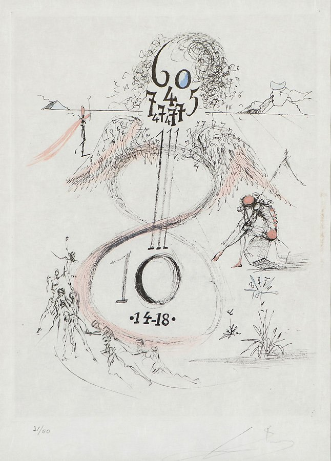 "Salvador Dalí   'La Guerre de 14-18"""