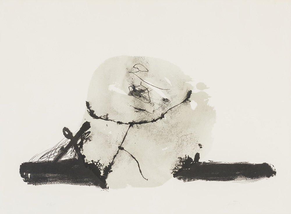 Antoni Tàpies (Spanish, 1923-2012)  'Untitled'