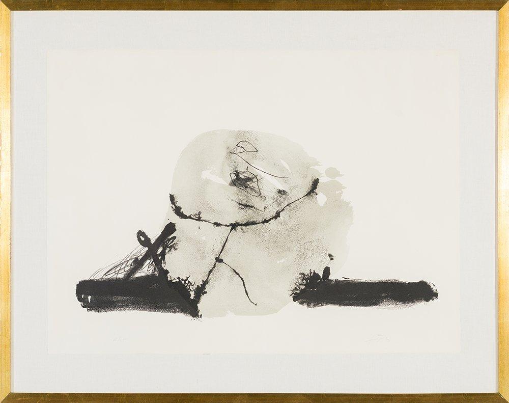 Antoni Tàpies (Spanish, 1923-2012)  'Untitled' - 2
