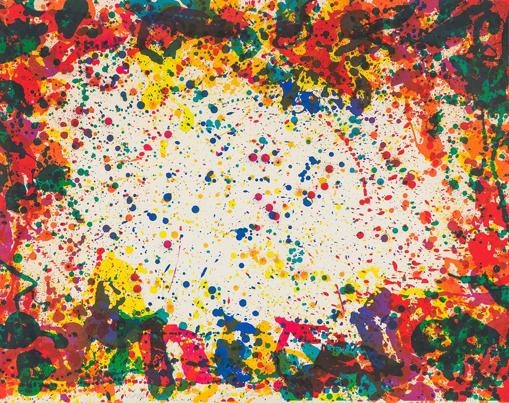 Sam Francis   'Five Coral Screen (L. S12; SFS-218)'