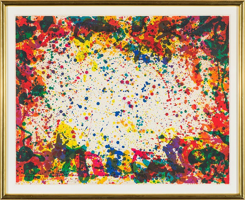 Sam Francis   'Five Coral Screen (L. S12; SFS-218)' - 2