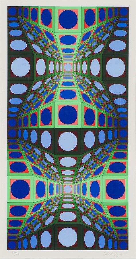 Victor Vasarely  'Pava'