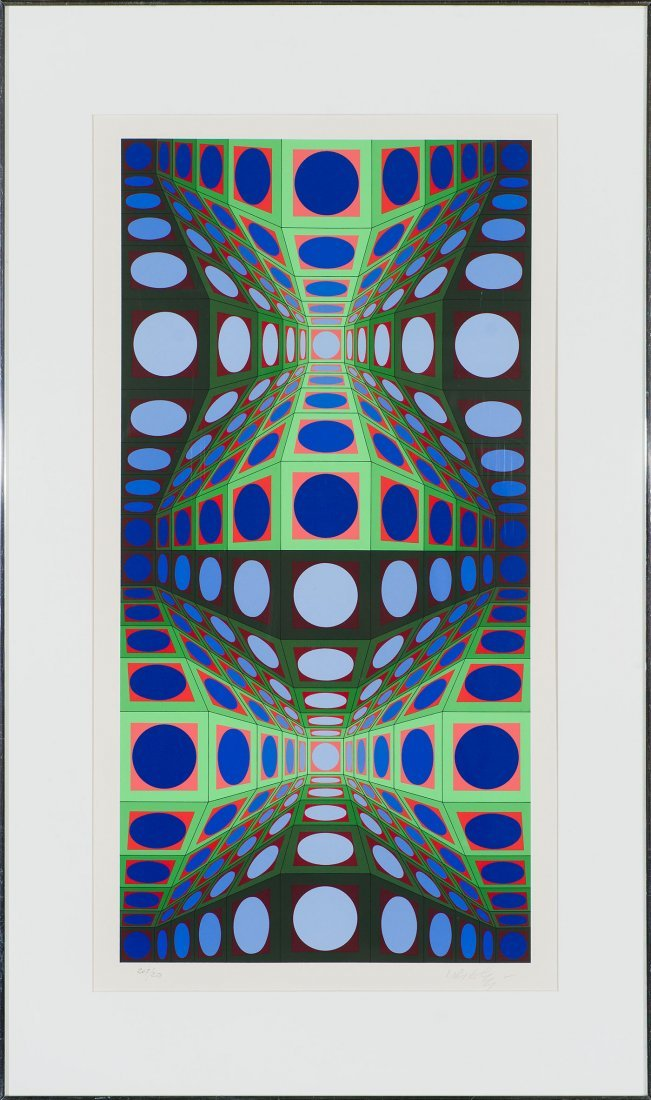 Victor Vasarely  'Pava' - 2