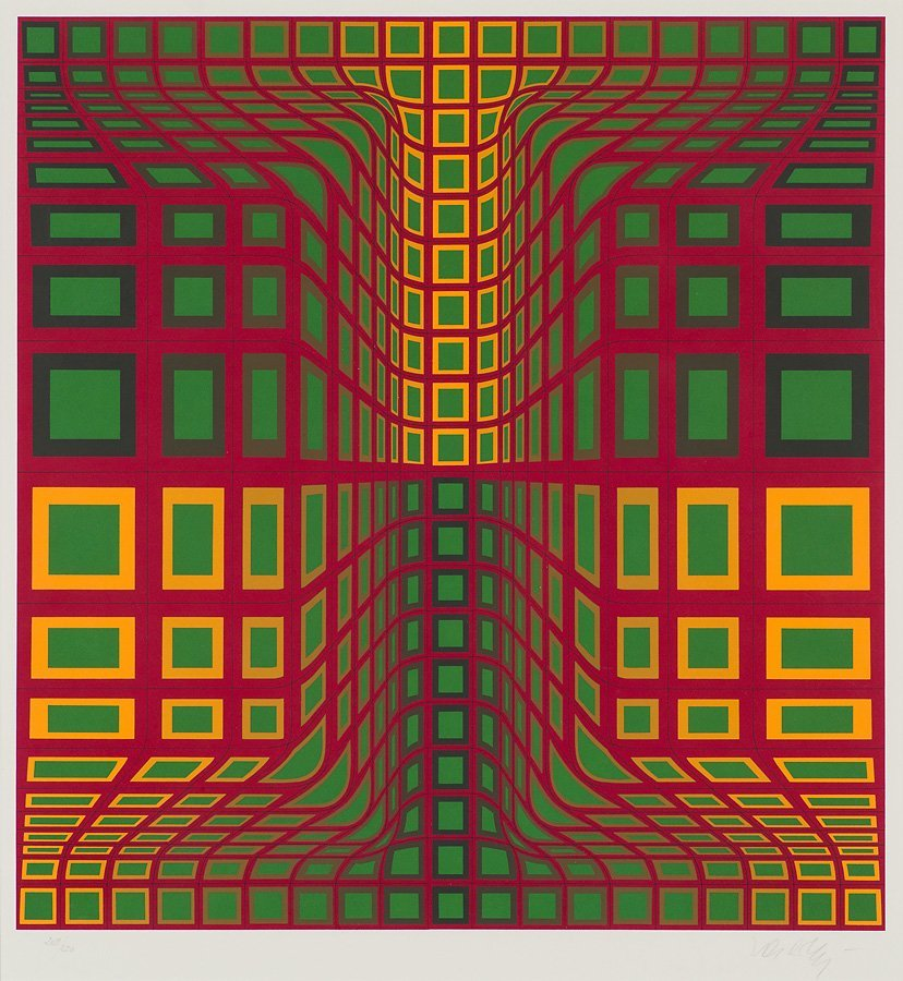 Victor Vasarely  'Kas Kas'