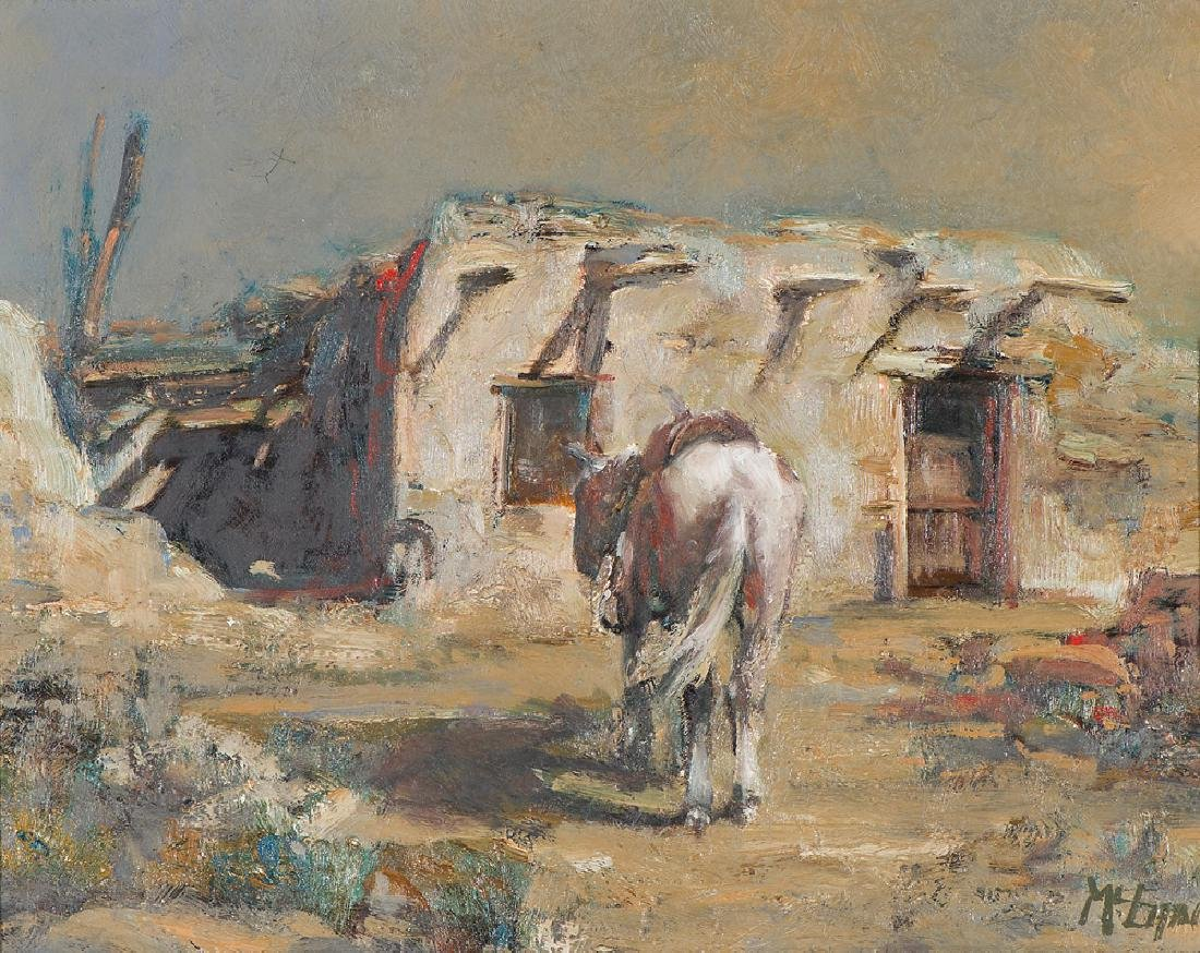 Buck McCain  'Horse and Old Adobe'