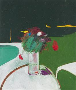 Fritz Scholder 'Flowers by the Pool'