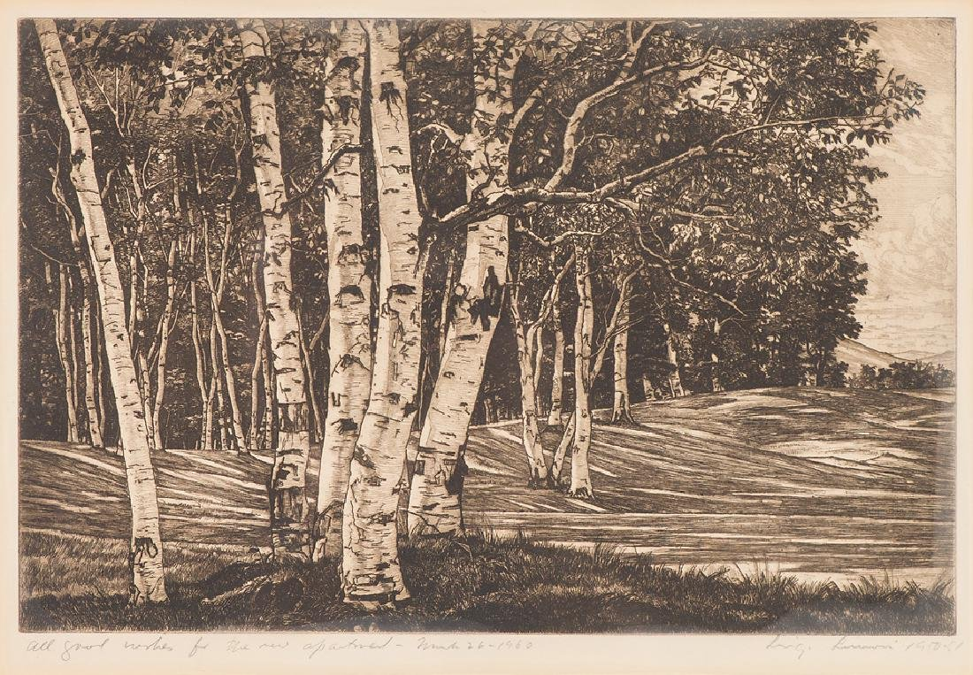 Luigi Lucioni 'Birch Processional'