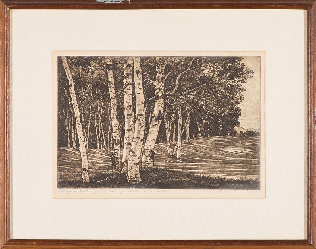 Luigi Lucioni 'Birch Processional' - 2