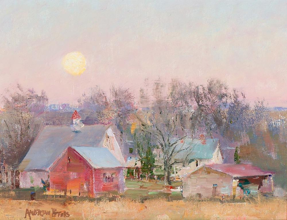 Andrew Peters Harvest Moonrise