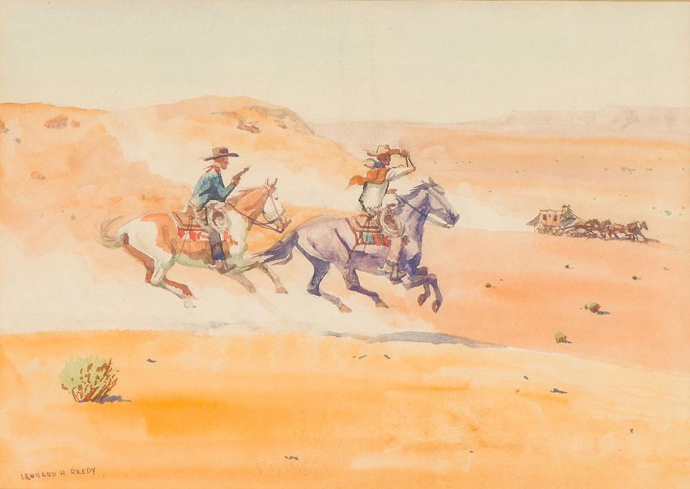 Leonard Reedy Seven (7) Watercolors