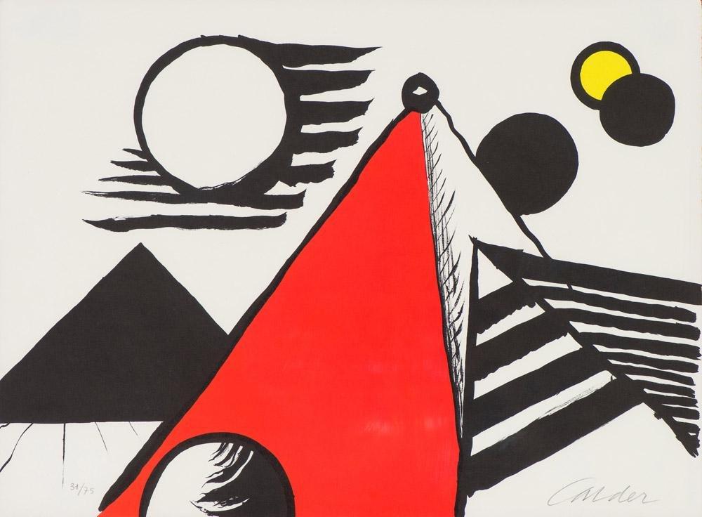 Alexander Calder Pyramid Rouge