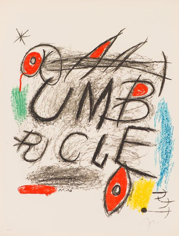 Joan Miró Poster for the film 'Umbracle' (Maeght 922)