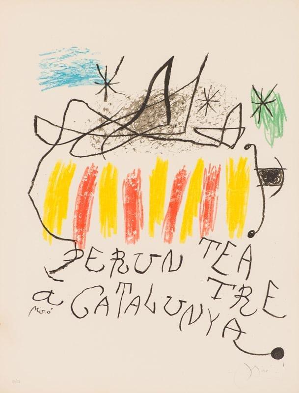 Joan Miró Per un teatre a Catalunya (Mourlot 913)