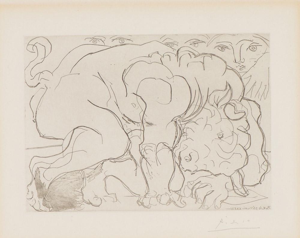 Pablo Picasso Wounded Minotaur VI (Minotaure blessé.VI)