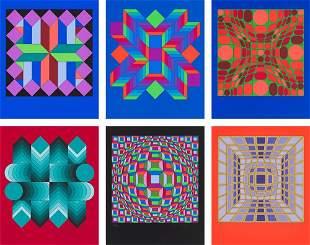 Victor Vasarely  (6) Helios-1 Suite, 1981