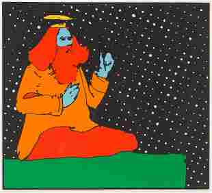 Peter Max  Satchidananda Guru, Teacher of Light, 1972