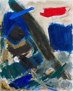 Jennie Haddad  Composition in Blue, 1957