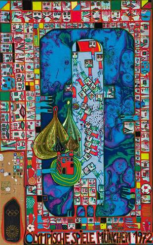 Friedensreich Hundertwasser  Olympic Games Munich...