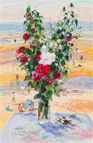Gaston Sébire  Le Bouquet et la Plage