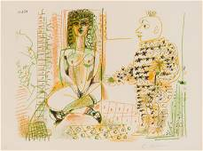 Pablo Picasso Le Peintre et Son Modéle, 1954